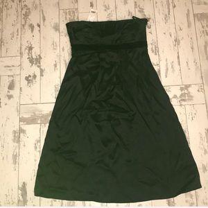 Banana Republic black satin dress , size 10 NWT